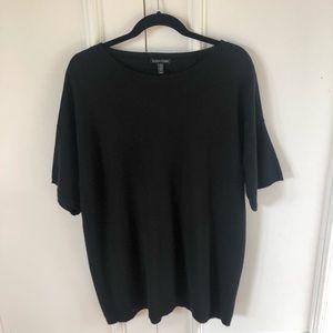 Eileen Fisher Merino Wool Black Knit Top
